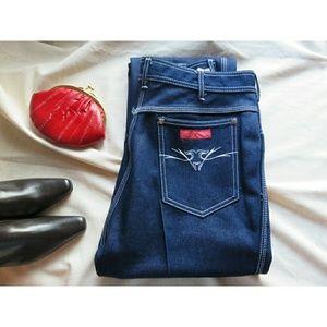 NWT Vintage 80's Hippie Coachella Jeans 14 Long